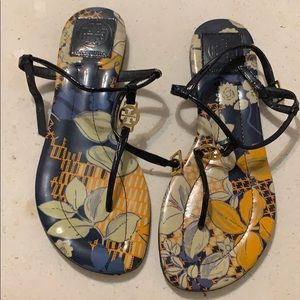 Tory Burch Emmy Floral Thong Sandals